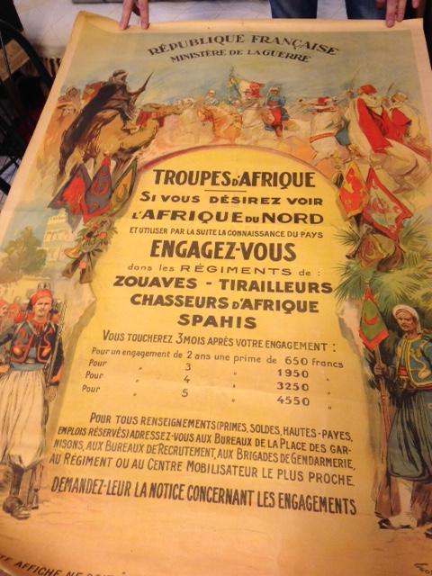 Ancienne affiche Troupes d'Afrique